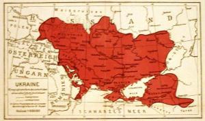 1918 Ukraine Map