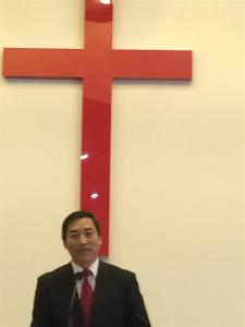Pastor Kai Xing. Hungarian Chinese Christian Church. September 2015