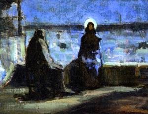 Study for Nicodemus Visiting Jesus, Henry Ossawa Tanner