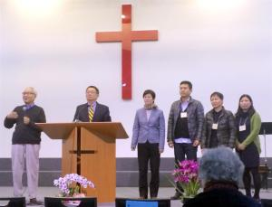 Pastor Hsu Lie and representatives of the Chinese Christian Church of Berlin