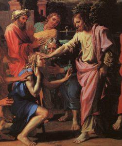 Christ Healing the Blind - Nicolas Poussin 1650 - Louvre, Paris