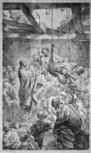 Christus heilet einen Gichtbrüchigen - by Bernhard Rode, 1780