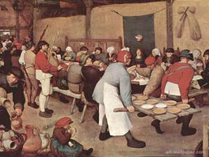 Village Wedding Feast. Breughel