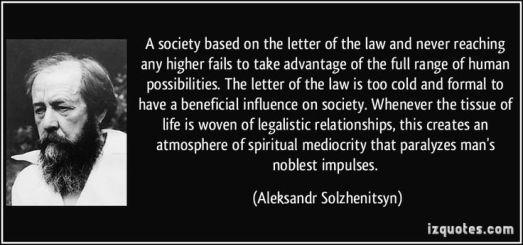 as - letter of the law