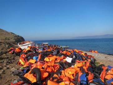 2015-11 discarded refugee lifejackets - lesvos greece - Jim Black