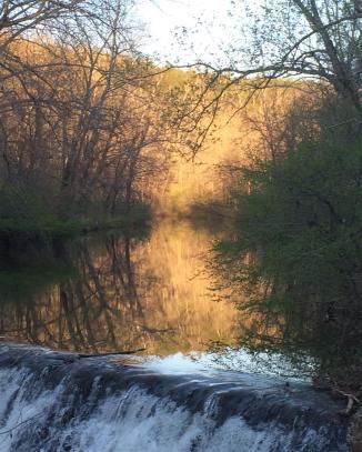Wreck Island Creek at sunset. April 2016