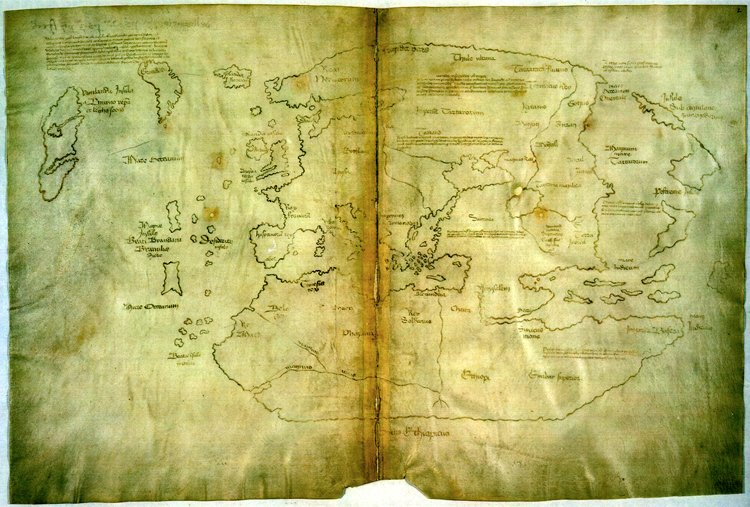 1500s map 15th C Vinland map